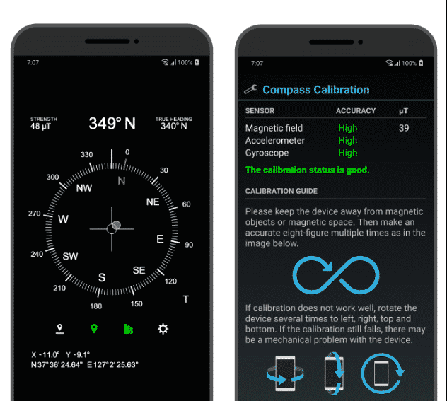 accurate compass android apps